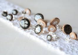 wood stud earrings 51 mens wooden earrings wood studs wood earrings unisex