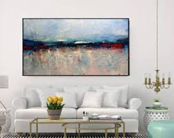 Living Room Art Canvas by Abstract Canvas Art Etsy