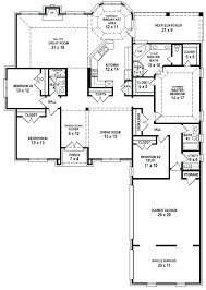4 bedroom 1 story house plans house plans 4 bedroom 3 bath 1 story floor 2 critieo