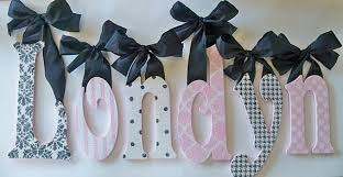 Decorative Wall Letters Nursery Glitter And Sparkle Custom Boutique Baby Nursery Wall Letters