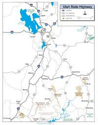 Usa Highway Map Utah Highway Map