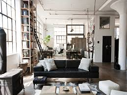 interior interesting industrial interior design with large