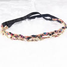headband comprar aliexpress comprar 2 colores de trenzado diadema de tela