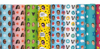 christmas wrapping paper designs customized wrapping paper features your in the design