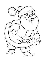 ideas printable santa coloring pages