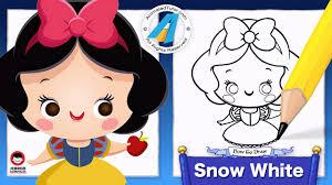 draw cute snow white chibi kawaii cute easy disney