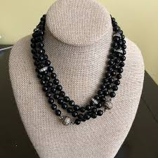 jewelry black pearl necklace images Chloe isabel jewelry moving sale nwt ci black pearl necklace jpg