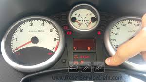 reset key service light peugeot 207 youtube