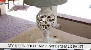diy refinished lamps with sloan chalk paint youtube