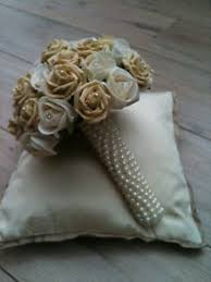 wedding flowers ebay wedding bouquet ivory and light brown roses and babies breath mix