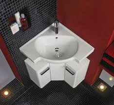 These  Stylish Corner Sinks Are Your Small Bathroom Solution - Corner sink bathroom cabinet