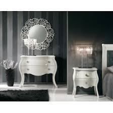 comodini e ã como 2 comodini convexe bois et miroir en photo estea mobili