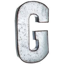 metal letters wall decor wall metal letter galvanized g large galvanized metal letter g for gina pinterest metals
