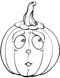 Scared Pumpkin Coloring Page Free Printable Coloring Pages Coloring Scares