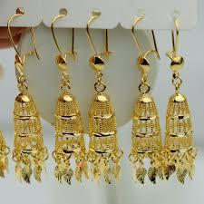 saudi arabia gold earrings aliexpress buy 18k gold plated filled necklace earrings