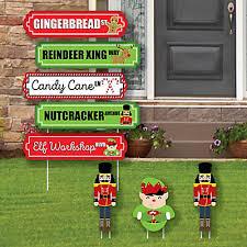 Christmas Cutout Decorations Christmas Street Sign Cutouts Holiday U0026 Christmas Yard Signs