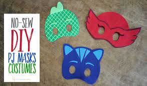 pj mask halloween costumes no sew diy pj masks costumes