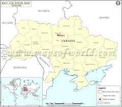 where is on the map where is kiev location of kiev in map