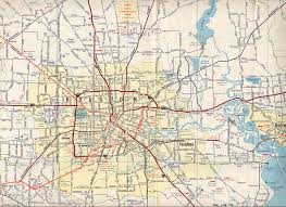 road map texasfreeway houston historical information road maps