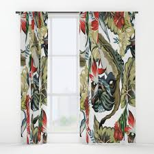 pug and vintage window curtains society6