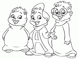 alvin chipmunks printable coloring pages coloring