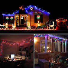 halloween icicle lights qedertek 200 led solar powered christmas lights 72ft fairy lights