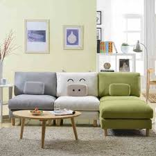Soft Sectional Sofa Soft Grey Carpet With Wooden Coffee Table And Colorful Small