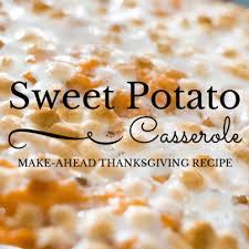 show make ahead sweet potato casserole recipe