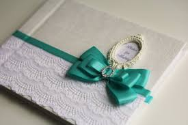 Wedding Sign In Book Mint U0026 White Wedding Guest Book With Initials Mint Baby Shower