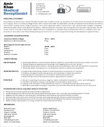 Objective Examples In Resume by Receptionist Resume Objective 7 Examples In Word Pdf
