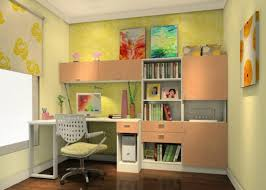 study room ideas with green wallpaper 3d house