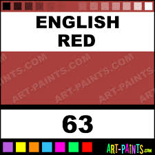 english red classic oil paints 63 english red paint english