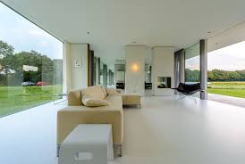 contemporary concrete and glass residence architecture design with