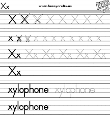 letter x handwriting worksheets for preschool to first grade