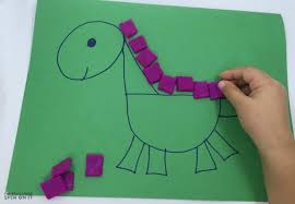 dinosaur shapes game kids playdough