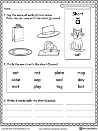 short a sound worksheet short vowels printable worksheets and