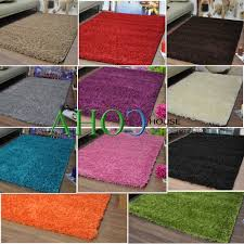 Ebay Area Rugs Plain 5cm Shaggy Rugs Cheap Thick Soft Pile Area Rug Mats Ebay For