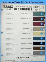 oldsmobile paint chips