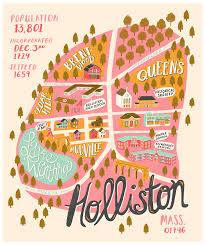Ma Map Holliston Ma Map On Behance U2026 Pinteres U2026