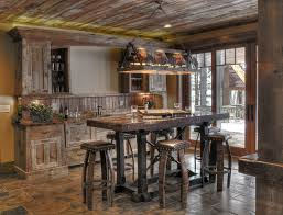 rustic pub table and chairs bay lake project