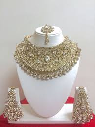 fashion jewelry necklace set images Indian bollywood style fashion gold plated bridal jewelry necklace jpg
