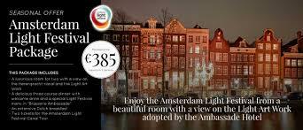 amsterdam light festival tickets ambassade hotel amsterdam light festival package