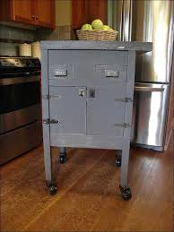 Kitchen Movable Island by Kitchen Rolling Island Table Metal And Wood Kitchen Island