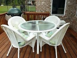 White Resin Patio Table Beautiful White Wicker Resin Outdoor Furniture For White Wicker
