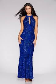 royal blue dress royal blue sequin and mesh fishtail maxi dress quiz clothing