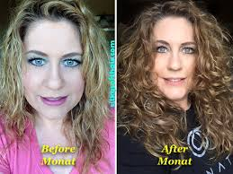 frizzy aged hair my naturally curly hair my monat before after photo i had to