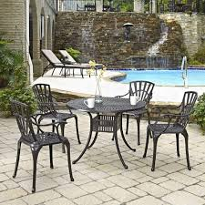 42 Patio Table Home Styles Largo 42 In 5 Piece Patio Dining Set With Umbrella