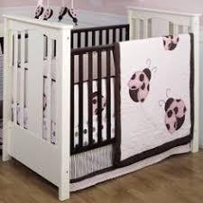 Ladybug Crib Bedding Set Pink And Brown Ladybug Crib Bedding Ladybug Baby Bedding For