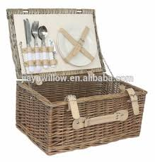 willow picnic basket 2 person outdoor wicker picnic hamper set