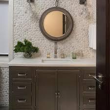 river rock bathroom ideas la salle metal wrapped single wide vanity design ideas